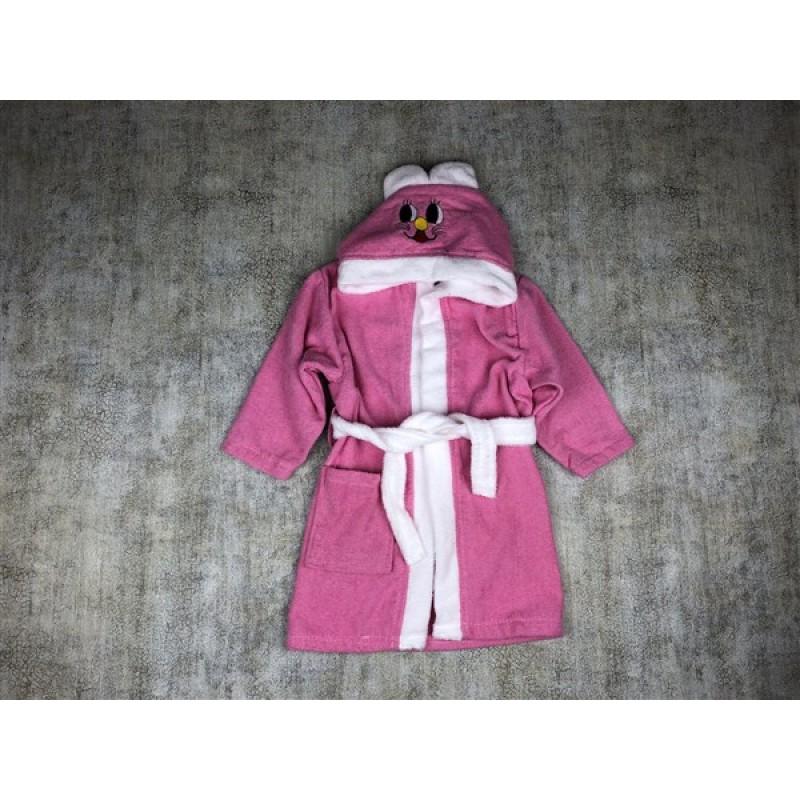 Vip Line Çocuk Bornozu Kapşonlu %100 Pamuk